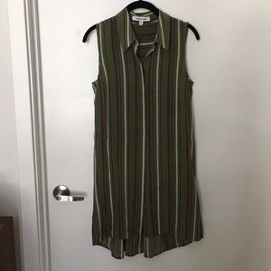 Green stripped tunic